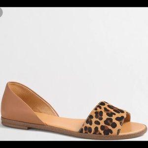 J. Crew Leopard Calf Hair Sandal